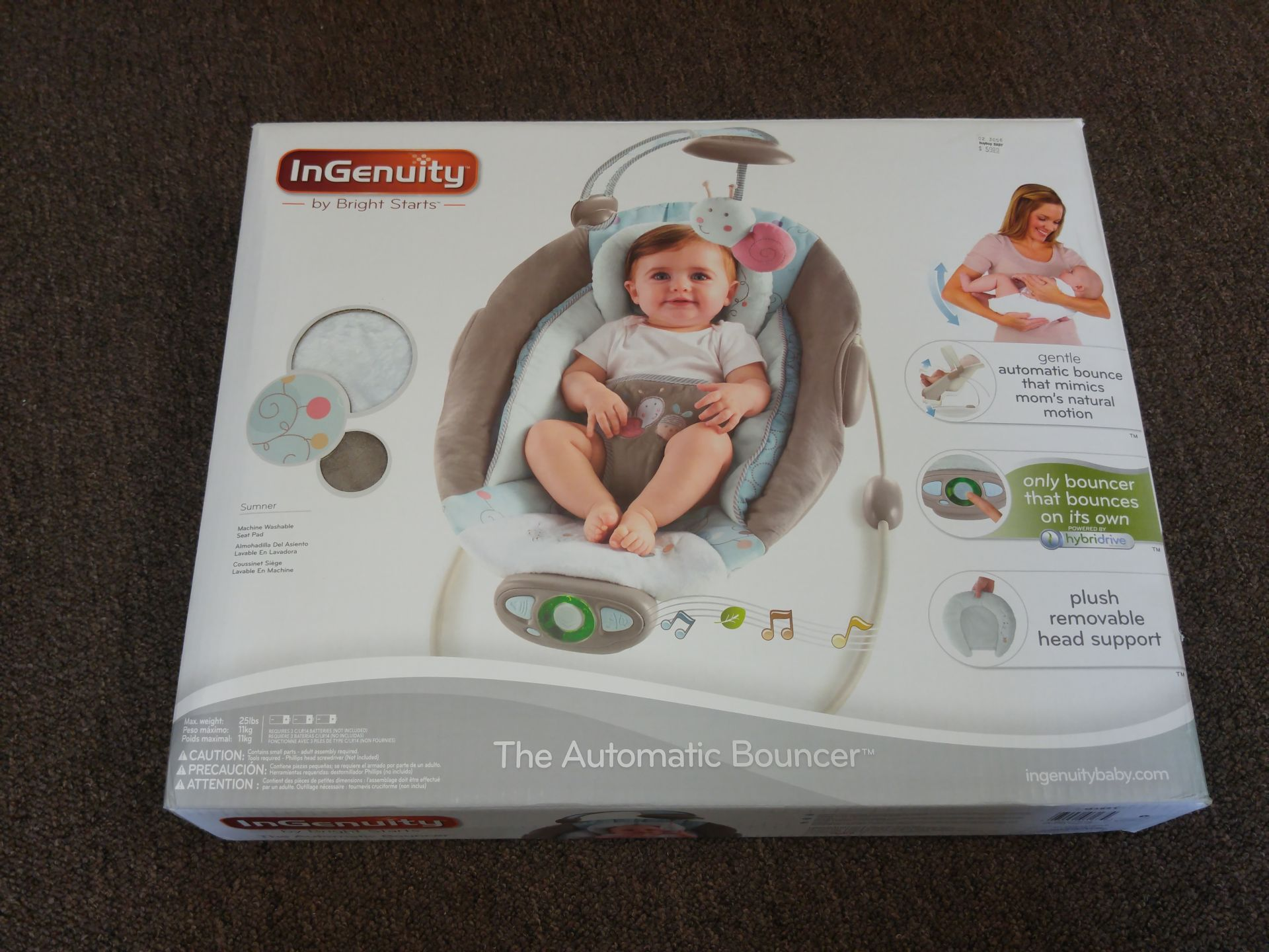 bright starts ingenuity automatic bouncer manual